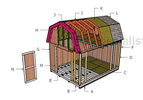 12x16 gambrel roof shed plans 12x16 barn shed roof with loft howtospecialist how to