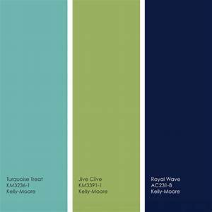 Pretty turquoise/lime/navy palette. Colors of our bedrooms ...