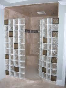 glass block bathroom designs colored glass blocks for a doorless walk in shower