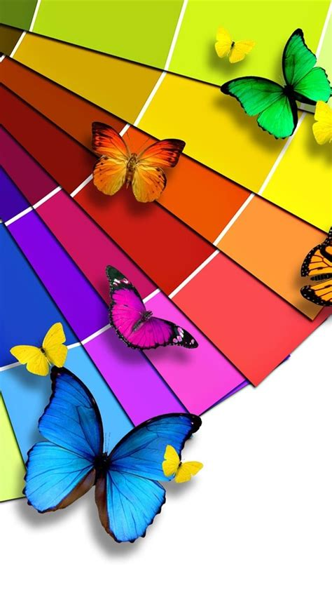 Best Car Wallpapers In Color Palette by Wallpaper Bright Color Palette And The Butterfly 1920x1200