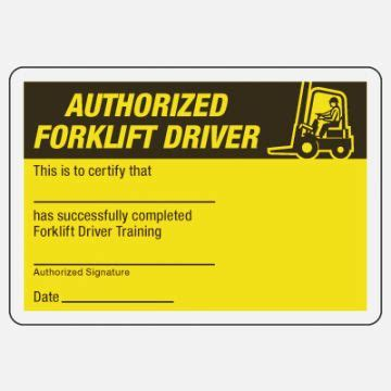 forklift certification card template  templates