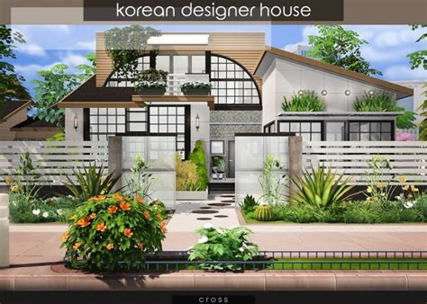 Korean Designer House At Cross Design Sims 4 Updates