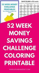 Ways To Earn Money As A Kid 52 Week Money Challenge Template A Coloring Printable