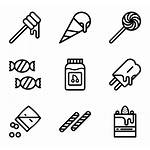 Sweet Candy Icons Candies Vector Sweets Cake