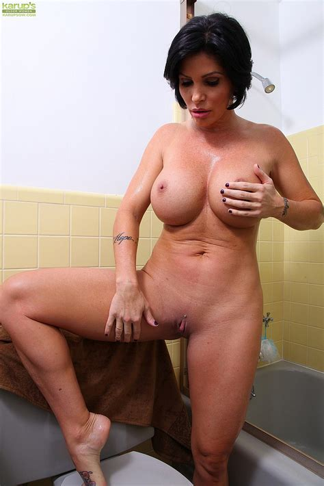 brunette milf shay fox wet and smoking hot busty vixen