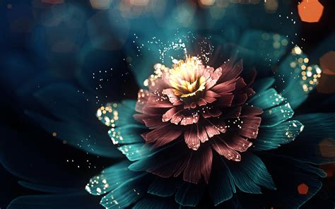 digital flower wallpaper   abstract wallpaper