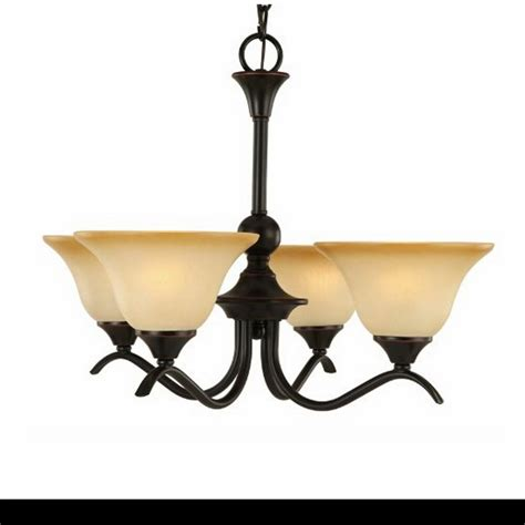 chandelier  light oil rubbed bronze finish amber glass