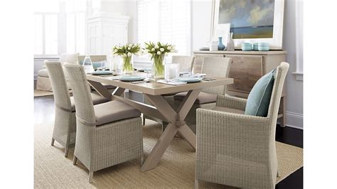 captiva seaside white dining chair crate  barrel