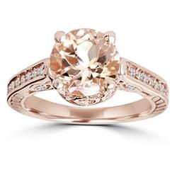 morganite engagement rings gold morganite vintage engagement ring 2 carat antique 14k gold ebay