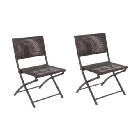 Folding Patio Chairs Home Depot by Hton Bay Folding Woven Patio Dining Chair 2 Pack
