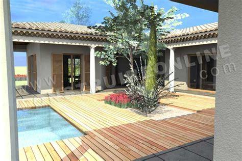 plan de maison en u pin pin plan maison en forme de u avec piscine on on home center