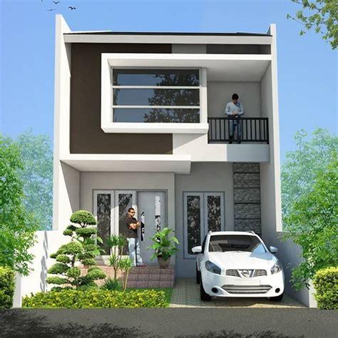gambar desain rumah minimalis modern 2 lantai bunglows