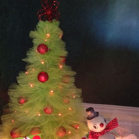 tulle christmas tree from pinterest tutorial christmas