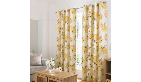yellow floral drapes george home yellow watercolour floral curtains curtains