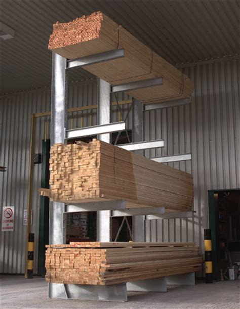 cantilever racking systems  timber steel  pipes