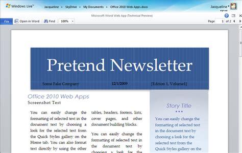 Microsoft Word 2010 Newsletter Templates