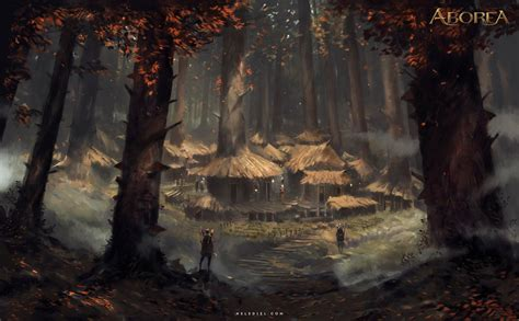 Dungeons And Dragons Hd Wallpapers Forest Village By Nele Diel On Deviantart