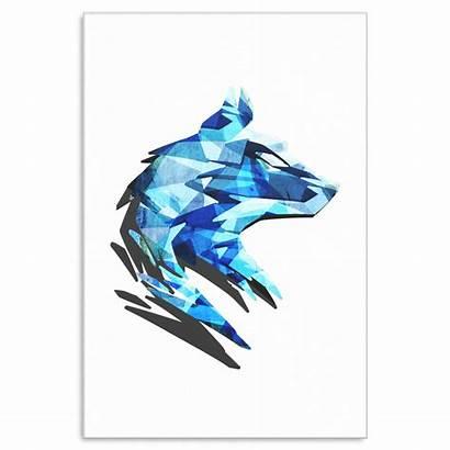Wolf Geometric Artwork Canvas Designs