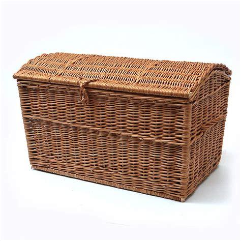 Basket Storage by Wicker Chest Storage Basket By Prestige Wicker