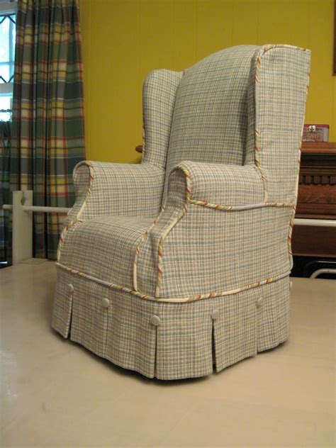 living room vintage wing chair slipcover for your living