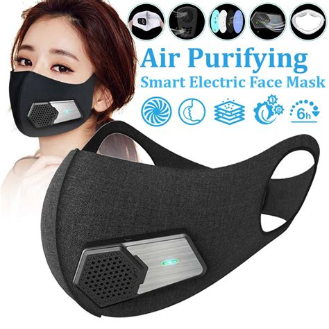 anti fog mask smart electric anti pm activated carbon