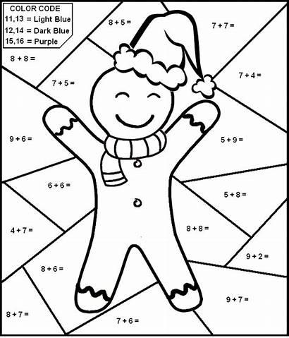 Math Number Addition Christmas Worksheets Worksheet Gingerbread