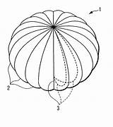 Parachute Template Coloring Pages Sheet Sketch sketch template