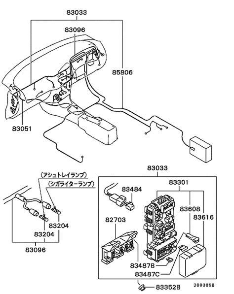 wiring attaching parts for 1996 2000 mitsubishi lancer ck2a japan sales region 7927458