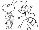 Grasshopper Ant Coloring Pages Cartoon Lobster Clipart Bully Clip Cliparts Bug Ants Colouring Printable Plagues Line Summer Card Library Popular sketch template