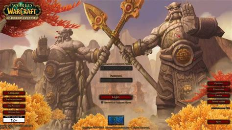 mists of pandaria intro the all login and screens hd