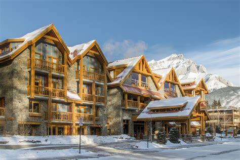 moose hotel suites banff ski resort snowcapped travel