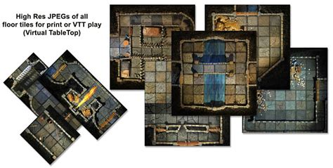 Dungeons And Dragons Tiles Pdf by Handcrafted Dungeons Basic Dungeon Tiles Set 2 Outland
