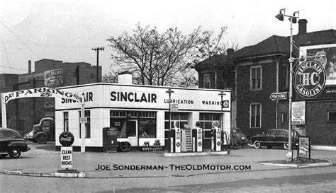 sinclair gas station   early   gas