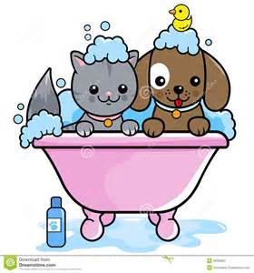 Shower Tub Cleaner by Dog And Cat Taking A Bath Stock Vector Image 46903661