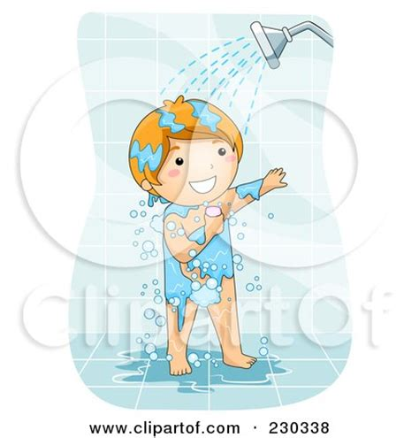 shower clipart boy royalty free rf showering clipart illustrations vector
