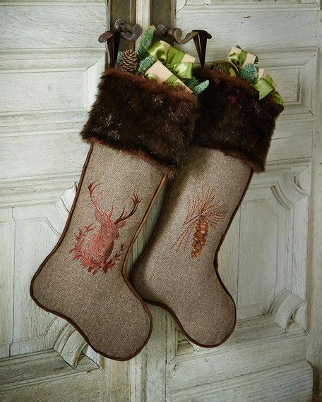 christmas stocking  faux fur cuff