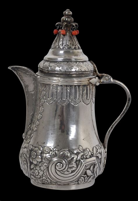 Map of ottoman empire (1900) in german (photo credit: Ottoman Silver Coffee Pot with Coral - Michael Backman Ltd