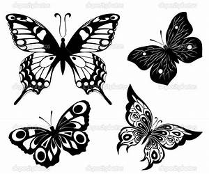 Butterfly For Tattoo In Black And White - Amazing Tattoo