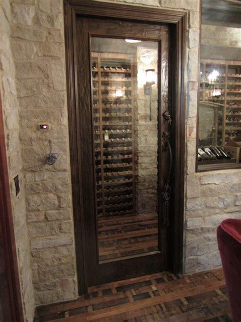 barolo glass custom wine cellar door  heavy