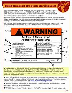 free osha compliant arc flash warning label poster this With arc flash requirements