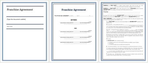 franchise agreement templates  write  perfect agreement