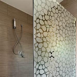 stickers adhesif motif gallets pour paroi de douche With carrelage adhesif salle de bain avec lumiere exterieur a led