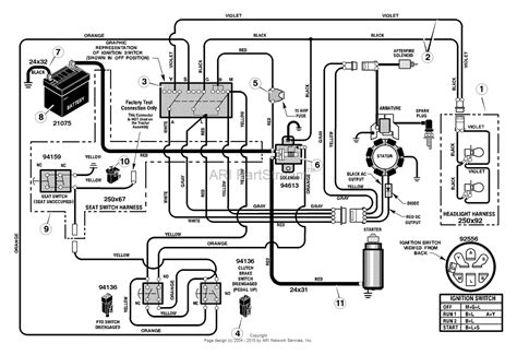murray 425015x92a lawn tractor 2004 parts diagram for electrical system