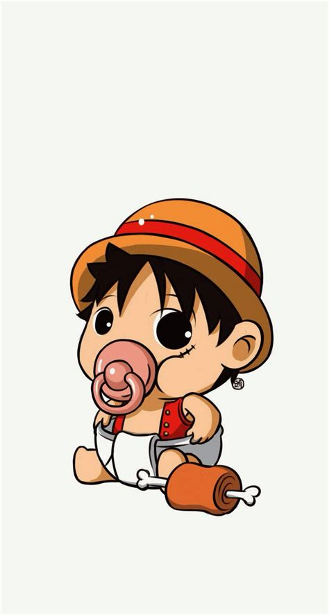 baby luffy    parallax wallpapers