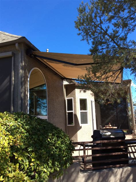 retractable awnings motorized retractable awnings az sun solutions