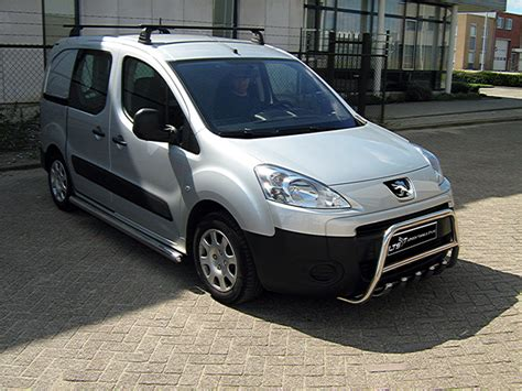 citroen berlingo peugeot partner chrome axle nudge  bar