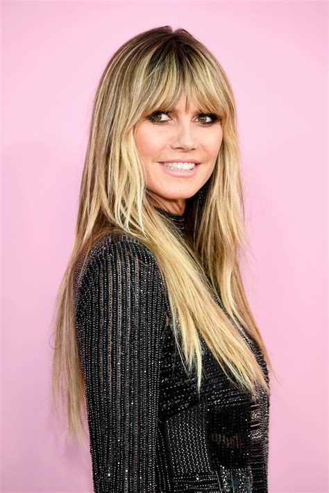 Heidi Klum Long Straight Cut With Bangs Looks