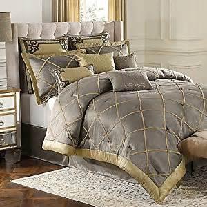 amazon com bombay garrison pewter gold gray grey queen comforter set