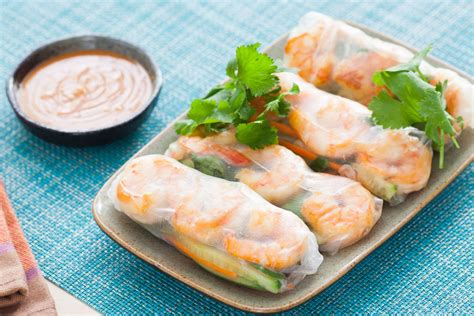 Kitchen Tools For Cutting Vegetables by Recipe Shrimp Summer Rolls With Spicy Peanut Dipping