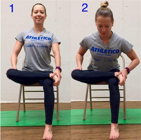 stretch of the week seated piriformis stretch athletico
